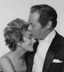 Kay Kendall with husband Rex Harrison in The Reluctant Debutante