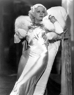 Jean Harlow between takes of Dinner at Eight, 1933
